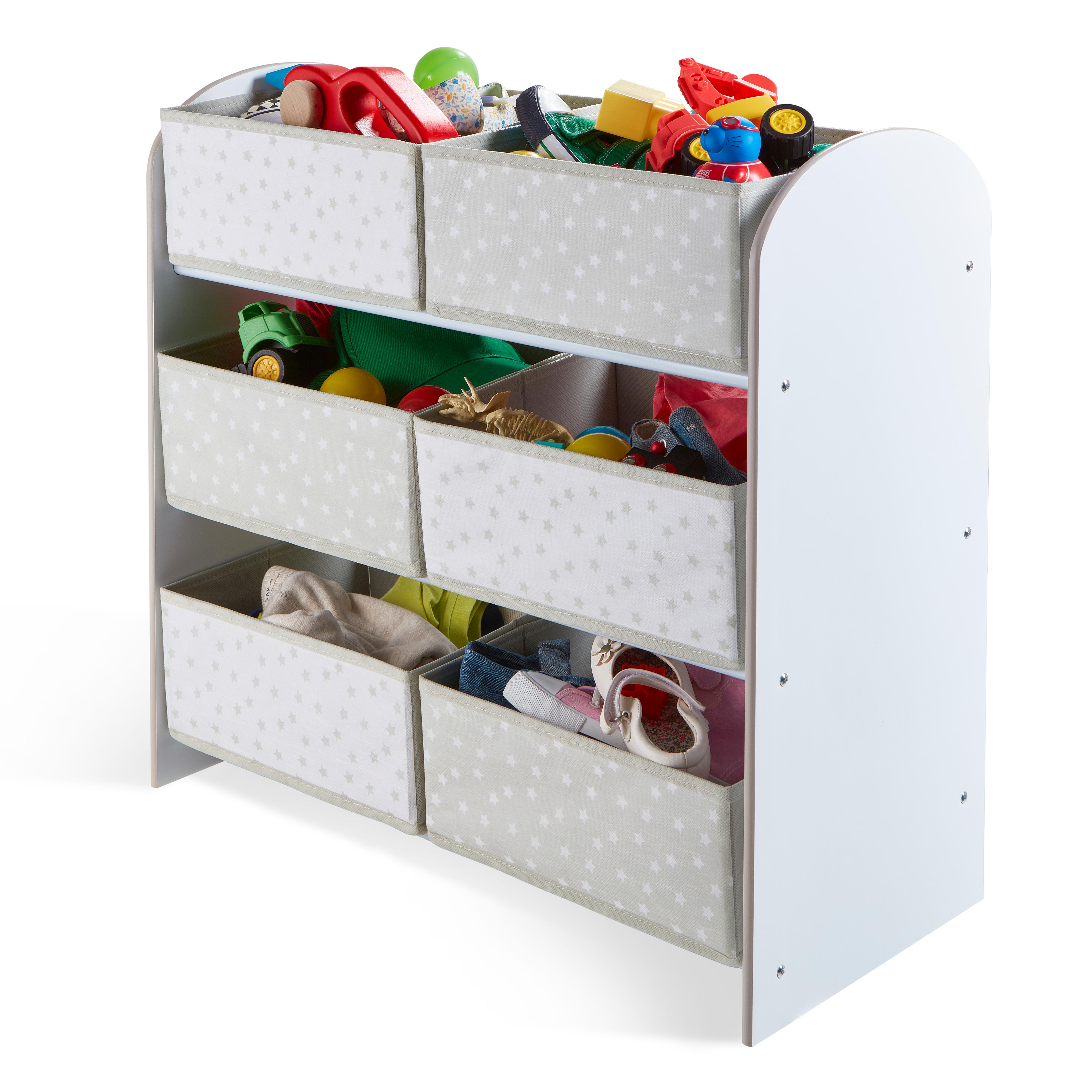 Organizér na hračky Biely