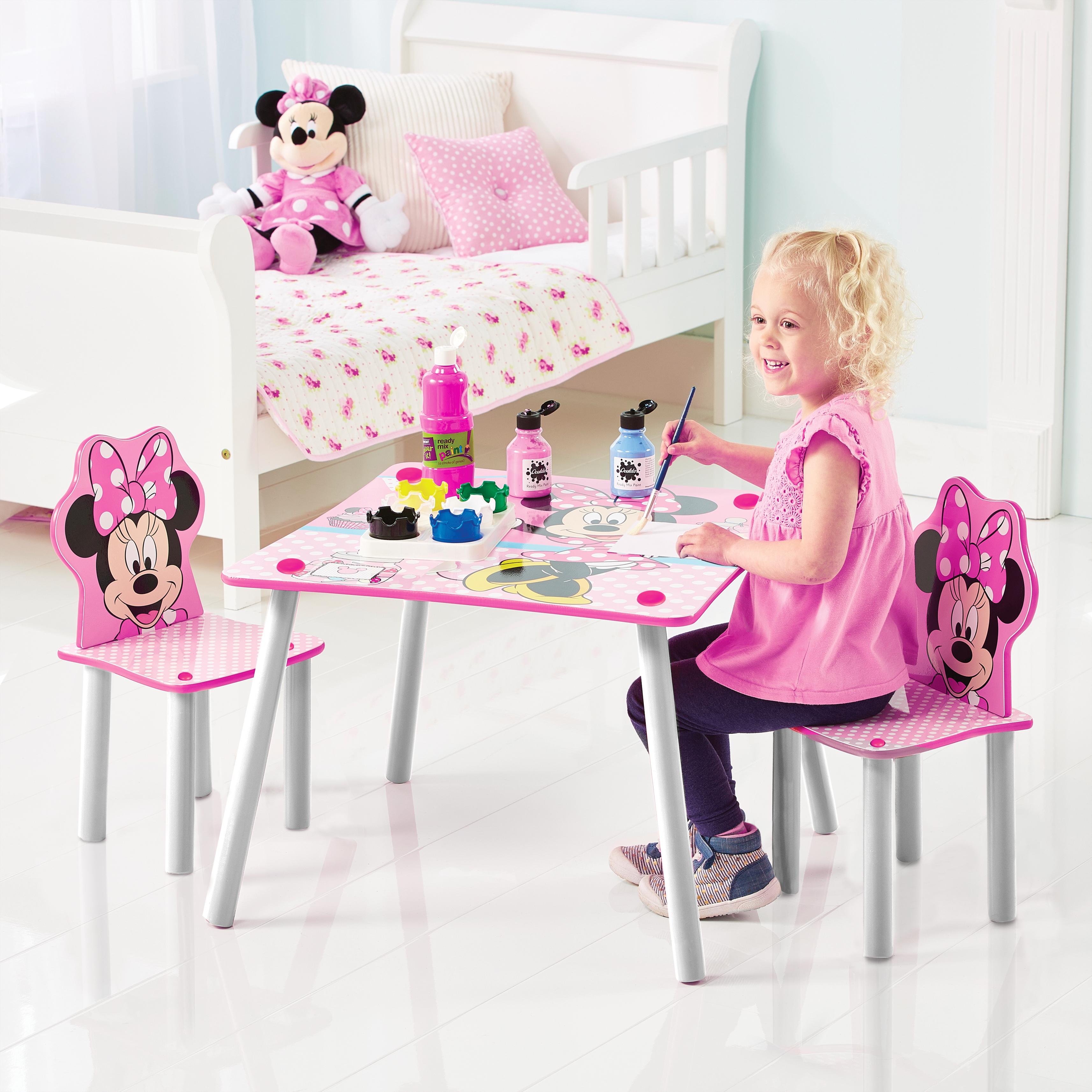 Detský stôl s stoličkami Myška Minnie