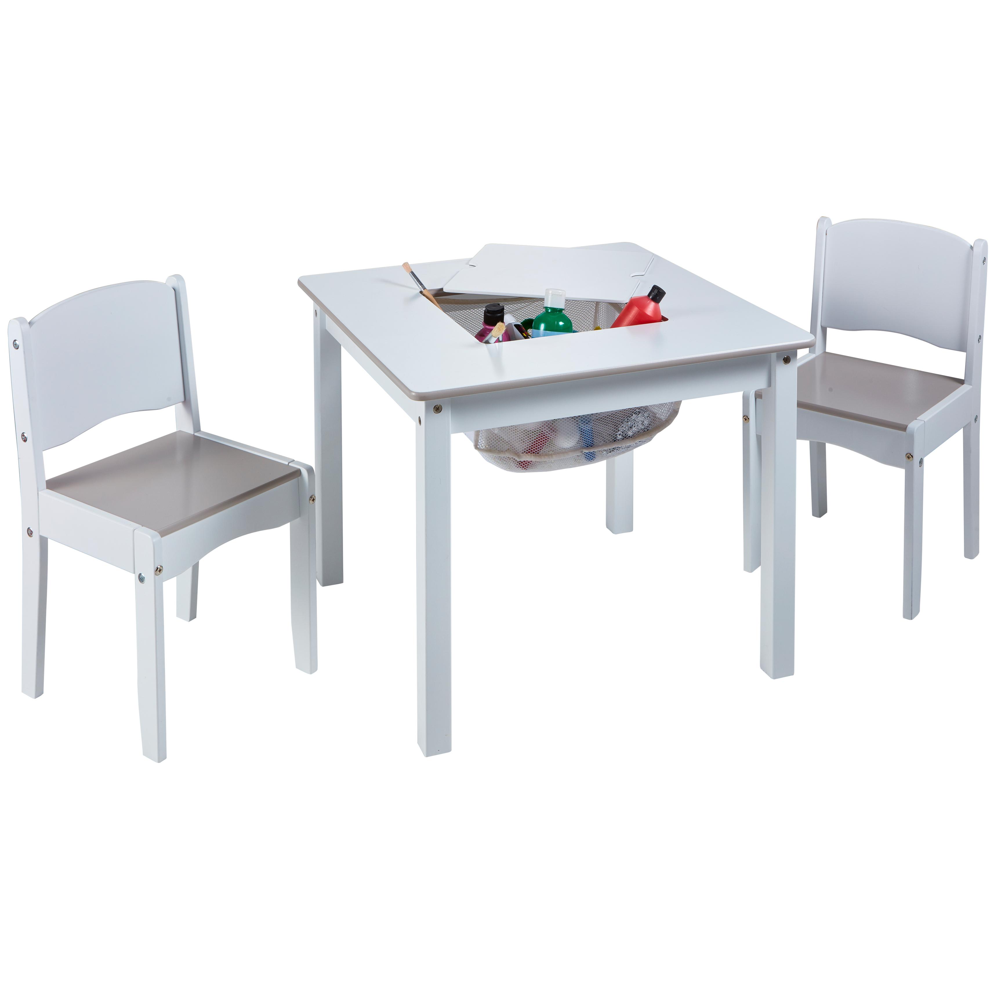 Detský stôl s stoličkami Biely