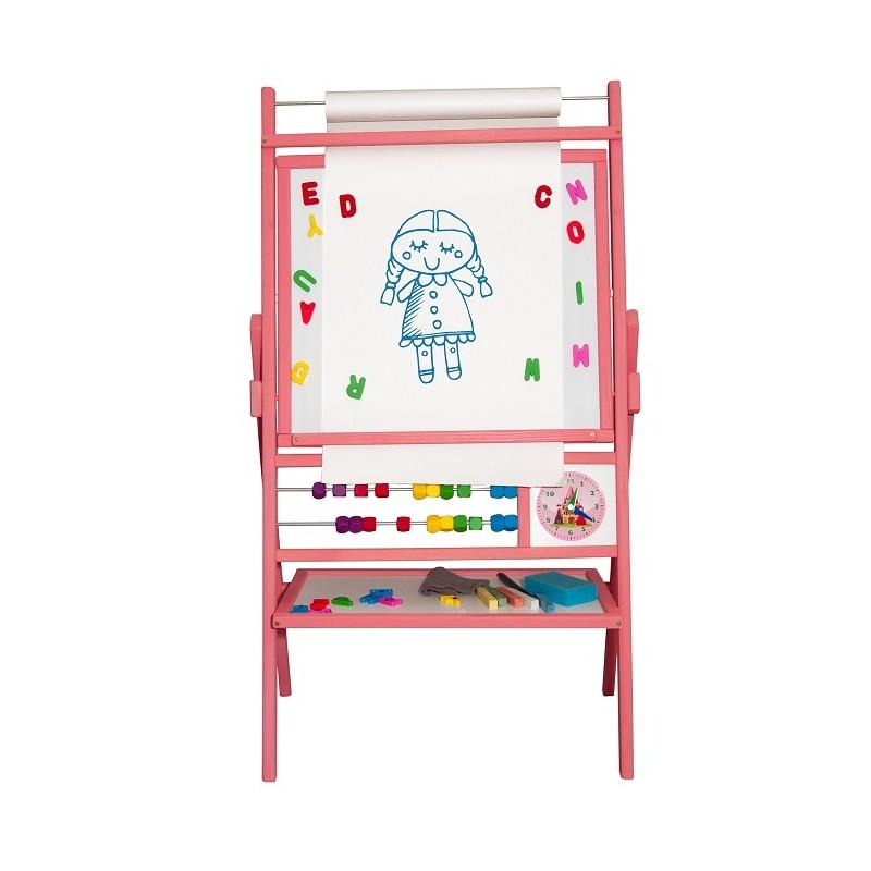 Detská magnetická tabuľa ružová