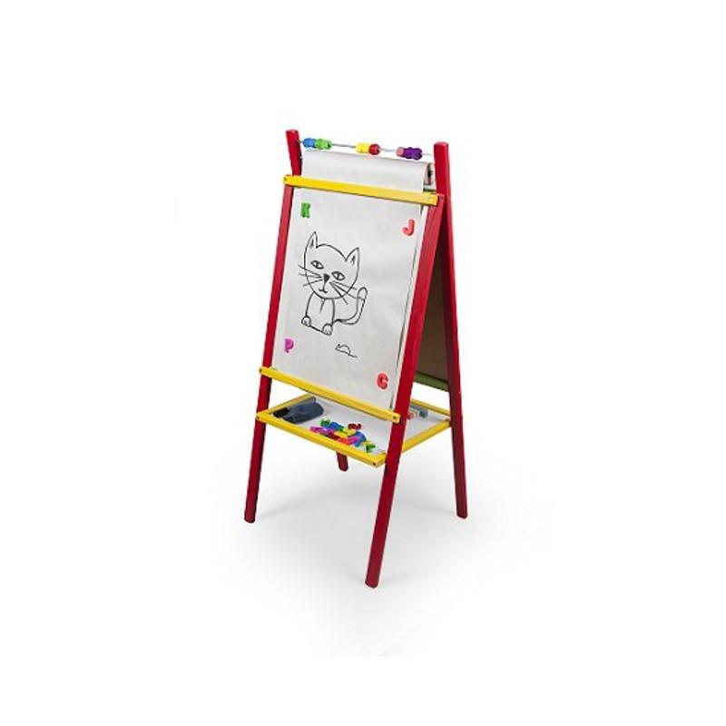 Detská magnetická tabuľa červená