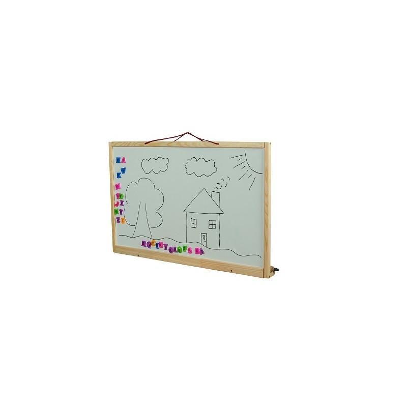 Detská tabuľa na stenu obojstranná prírodná