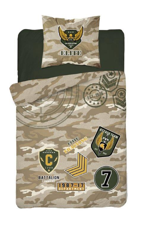 Detské svietiaci obliečky Army 140x200 cm