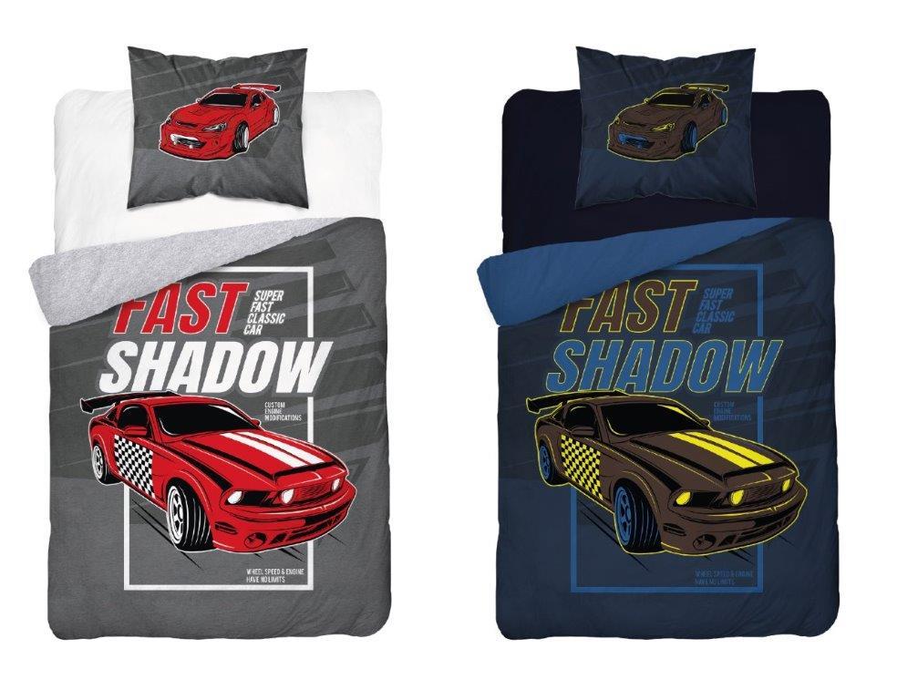 Dětské svítící povlečení Cars Fast Shadow 140x200 cm
