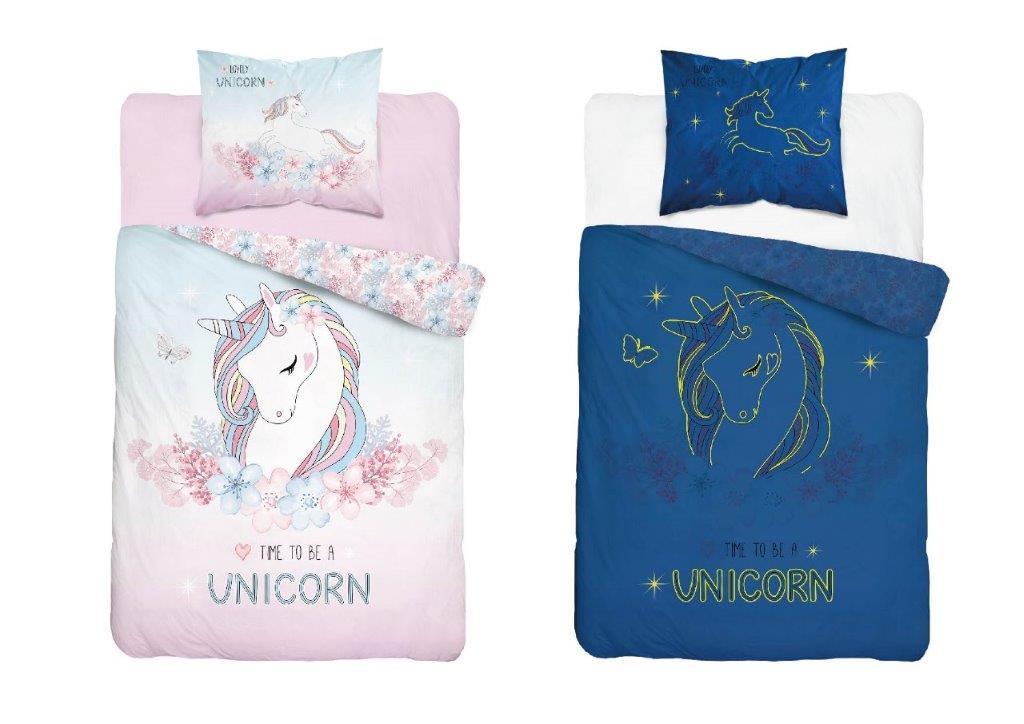 Detské svietiaci obliečky Unicorn 140x200 cm