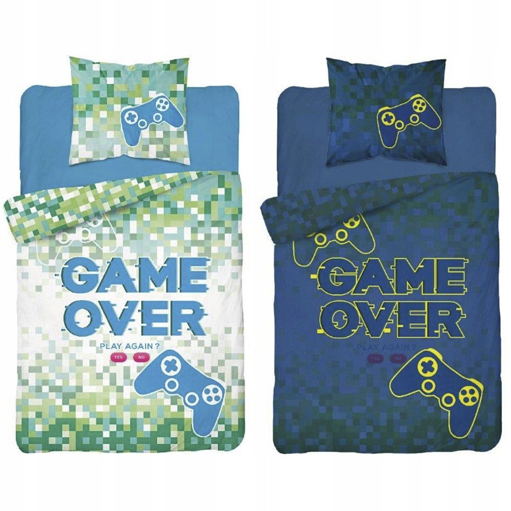 Detské svietiace obliečky Game Over II 140x200 cm