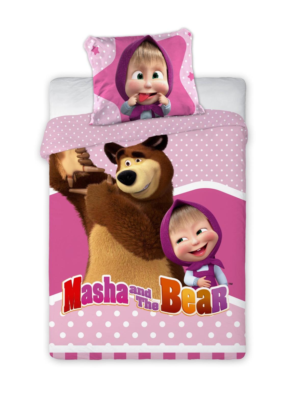 Detské obliečky Máša a Medveď 135x100 cm