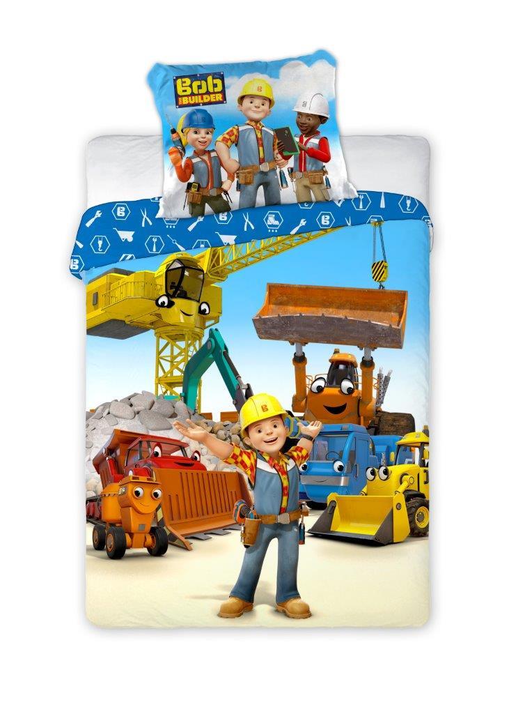 Detské obliečky Bob staviteľ 135x100 cm