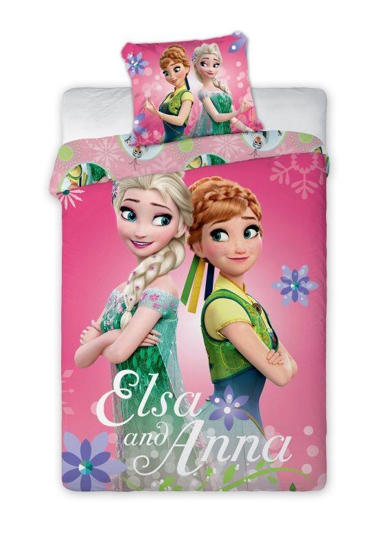 Detské obliečky Anna a Elsa 140x200 cm